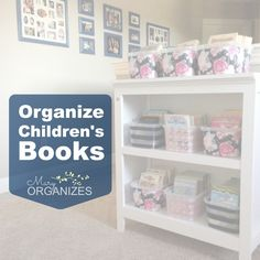 Organize Children's Books - Mary Organizes - http://maryorganizes.com/2014/05/organize-early-reader-novels-and-novel-series/