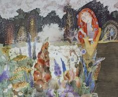 Painting on silk, hot batik. Artist Irina Kazimirova. Photo by Vasily Ruzakov