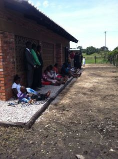 Kingdom Hall overflow. Harare, Zimbabwe rural suburb. This what happens when more people attend, than can fit inside.