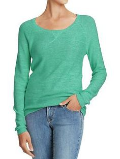 ***love this colour***   Women's Lightweight Crew-Neck Sweaters | Old Navy