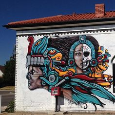 Hanging out at 5th Sun checking out work by #Keno Gonzales. #denverart #denverstreetart #streetart