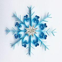 Arte di carta quilled: Let it snow