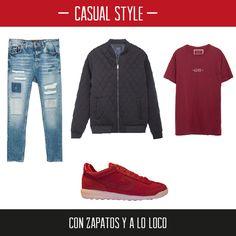Hazte con estas #zapatillasdeportivas Cruyff Classics disponibles en nuestra #zapatería Online y combínalas con un look casual como este que te proponemos.http://calzadorodriguez.com/es/hombre/368-zapatillas-deportivas-cruyff-rojas-nylon.html