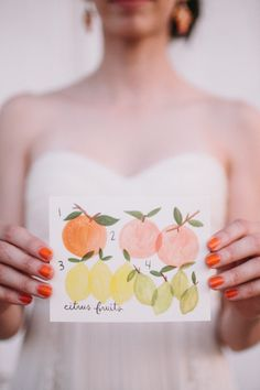 citrus infused papergoods Photography by www.annadelores.com  Read more - http://www.stylemepretty.com/2013/09/12/citrus-inspired-photo-shoot-from-anna-delores-photography/
