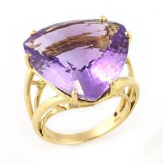 ipanema colection amethyst ring in yellow gold by roberto coin