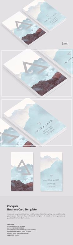Conquer Business Card Template by The Design Label on @creativemarket