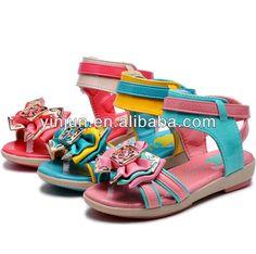 fashion big bowknot design princess girl sandals  upper:PU  super soft sole  big bowknot design  skidproof and ventilation