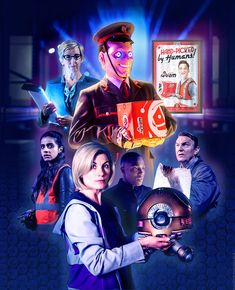 My digital artwork for the Doctor Who Series 11 episode Kerblam! Starring Jodie Whittaker, Bradley Walsh, Mandip Gill and Tosin Cole, with guest star Julie Hesmondhalgh. Doctor Who Wallpaper, 13th Doctor, Torchwood, Nerd Geek, Vampire Diaries, Star Trek, The Originals, Digital, Artwork