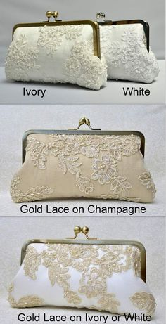 Items similar to Champagne Lace Pearl Bridal Clutch, Gold Bridal Clutch, Ivory Formal Purse, White Clutch, Lace Wedding {French Lace & Pearl Bridal Kisslock} on Etsy Champagne Lace Pearl Bridal Clutch Gold Bridal by ItsSoClutch Bridal Clutch, Wedding Clutch, Wedding Bag, Lace Wedding, Frame Purse, White Clutch, Beaded Purses, Vintage Purses, French Lace
