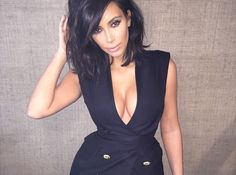 Image result for kim kardashian bob