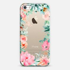Lush Floral Watercolor Transparent by Julie Song Ink - New Standard Case