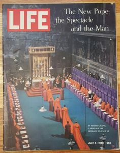 LIFE Magazine - July 5, 1963 - Pope Paul VI by CnWsTexasTreasures on Etsy