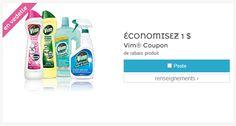 Économisez 1.00$ sur un produit Vim. Par la poste. ** Exclut tout produit VIM de 250ml.**
