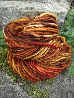 Handspun wool yarn handpainted Merino wool yarn thick by Yarnarchy