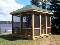 screened in gazebo - Google Search