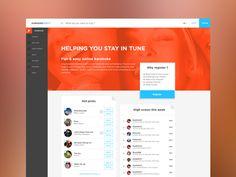 Dribbble - Homepage Layout by Stoyan Daskaloff
