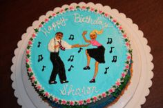 "Shag Dance - Made this ""Shag Dancing"" cake for my husband's secretary.  All deorating is buttercream."