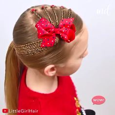 Cute and easy hairstyle with pigtails and elastics ? By: Cute and easy hairstyle with pigtails and elastics ? Easy Hairstyles For Long Hair, Little Girl Hairstyles, Boy Hairstyles, Braided Hairstyles, Halloween Hairstyles, School Hairstyles, Hairstyle Short, Style Hairstyle, Girls Hairdos