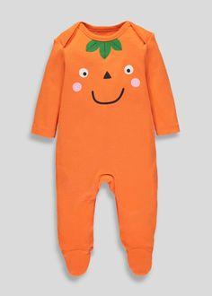 23f8bd2b8ff Unisex Pumpkin Halloween Sleepsuit (Tiny Baby-9mths)