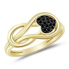 Cute Black Diamond Rings