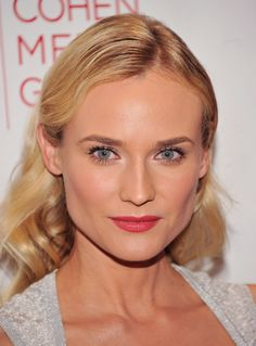Diane Kruger... does her own makeup. SOME GIRLS HAVE ALL THE LUCK.