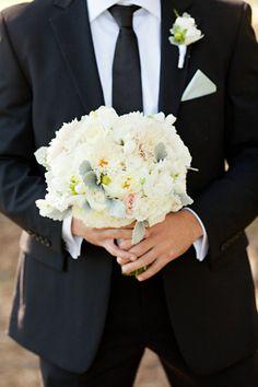 greek wedding tradition, groom brings bride the bouquet