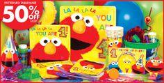 Elmo 1st Birthday Party Supplies