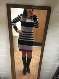 Fun sweater dress Friday