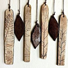 Porcelain and Stoneware Botanical Chimes by StudioByTheForest, $40.00