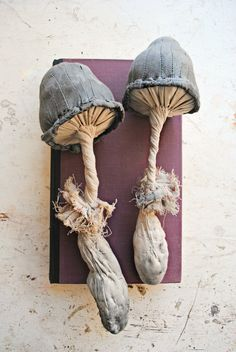 """ohmisterfinch: """" Textile Toadstools By Mister Finch """""""