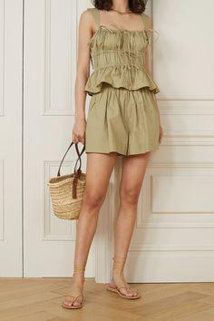 Korea Fashion, Ulla Johnson, Minimal Fashion, Jumpsuits For Women, Poplin, Casual, Summer Outfits, Fashion Outfits, Army Green