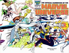 """johnbyrnedraws: """"Official Handbook of the Marvel Universe Deluxe Edition #9 cover by John Byrne & Joe Rubinstein & Andy Yanchus. 1986. """""""