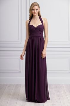 Plum bridesmaid's dress by Monique Lhuillier, Spring 2013