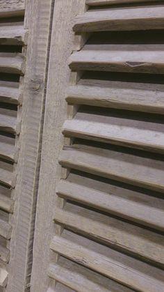 Steigerhouten louvres, als deur (div systemen), room-devider, raamluik, raamscherm , info@goedgevonden-wonen.nl . Maatwerk @ GoedGevonden/Koog aan de Zaan