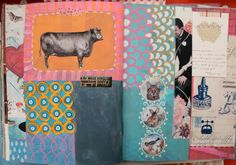 Art journal page by Bella Lullo, shabbygipsy