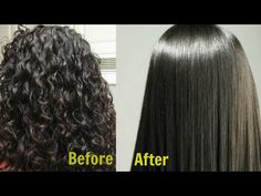 coconut milk and lemon mask to have straight hair - curly hair mask to naturally straight hair - hair straightening treatment - natural hair relaxer Ingredie. Curly To Straight Hair, Straight Hairstyles, Curly Hair Styles, Natural Hair Styles, Hair Remedies, How To Make Hair, Hair Hacks, Hair Care, Hair Beauty