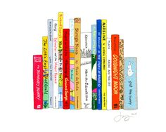 """Cute print for baby's room!  """"Ideal Children's Book Shelf"""""""
