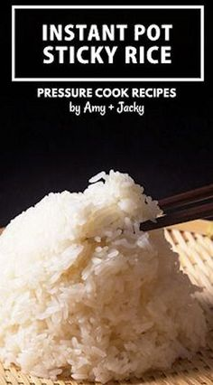 No more wet & mushy Instant Pot Sticky Rice (Pressure Cooker Sticky Rice)! Quick & easy way to make flavorful, evenly cooked Glutinous Rice with no soaking. Best Sushi Rice, Sushi Rice Recipes, Rice Cake Recipes, Rice Desserts, Rice Recipes For Dinner, Instant Pot Dinner Recipes, Japanese Sticky Rice, Sweet Sticky Rice, Mango Sticky Rice