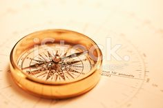 Old-fashioned compass on map. Adventure Photos, Compass Tattoo, Image Now, Royalty Free Stock Photos, Map, Spirit, Inspiration, Biblical Inspiration, Location Map