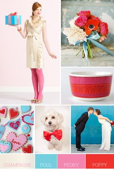 Or I would choose these colors. I love the blue and light pink, they create such a whimsical feeling and I love that!