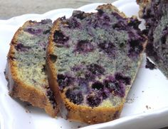 Cake aux myrtilles sans gluten et sans lactose
