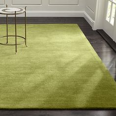 """Shop Baxter Sage Wool Rug.  A variegated heather effect looms a family of tonals to ground the room in fresh """"solids"""" with more interest, more range, more depth and more texture.  Hand-loomed plush New Zealand wool."""