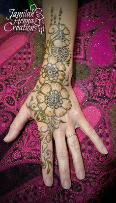 drippy flower paisley henna www.jamilahhennacreations.com