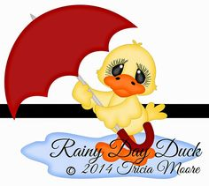 {FREE}  Rainy Day Duck Cut File and also free Digi KIT.  Available for FREE June 16-June 22