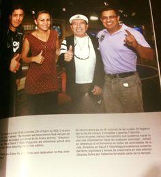 Leyenda Rafael Garcia el Doctor Rafael Armendáriz pudo convivir con la familia de la Campeona Super Mosca del Consejo Mundial de Boxeo, Zulina