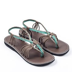 a7d017f558d1 Seashell Turquoise-Gray – Plaka Sandals  Seashell  Turquoise  Gray  sandals  Grey