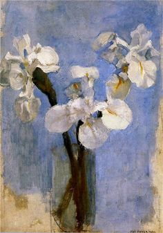 Piet Mondrian 'Flowers and Sun'