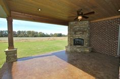 Outdoor Fireplace  - New Home by DTB Construction