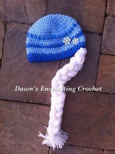 Crocheted snowflake queen hat