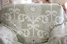 Armchair Slipcover Tutorial: Armchair Slipcover, Slipcovers For Chairs, Upholstered Chairs, Diy Sofa Cover, Couch Covers, Reupholster Furniture, Furniture Upholstery, Diy Furniture Projects, Diy Chair